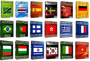 Language Courses 22 languages Set On 3 DVD Audio Disks  + Text Lessons PC DVD