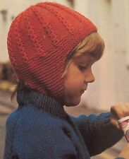 FCg5 - Knitting Pattern - 4-ply Kids Wooly Balaclava Helmet Hat - Children's