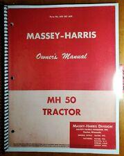 Massey Harris Mh50 50 Tractor Owners Operators Manual 695 001 M91 1155