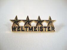 """Fußball WM-Pin """"Weltmeister 4 Sterne"""" Deutschland 2014 WC Sieger 54 74 90 14"""