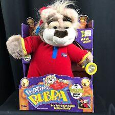 "Bedtime Bubba 1997 Talking Bear With Working Flashlight Plush Toy Tyco 18"" MIB"