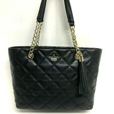 NWT Kate Spade New York Emerson Place Small Priya BLACK Quilted Leather $348