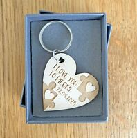 Personalised Gifts For Him Her Anniversary Girlfriend Boyfriend Keyring Gifts