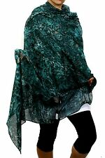 "( GUESS CIOSING ) Women's Fashion Scarf, Turquoise 100% RAYAN diameter 72""X36"""