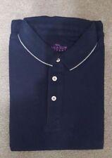 BNIP Men's Savile Row Piqué Short Sleeve Polo Shirt L Navy Perfect Man Present!