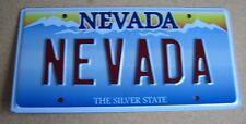 "NEVADA Vanity License Plate "" NEVADA "" SILVER STATE LAS VEGAS RENO HENDERSON"