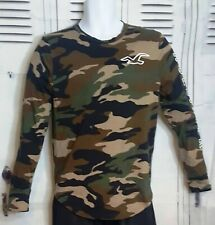 Hollister   Long Sleeve Camouflage Shirt   Men (Size: Small)