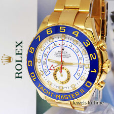 ** Rolex Yacht-Master II 18k Yellow Gold Ceramic Watch Box/Papers V 116688 **