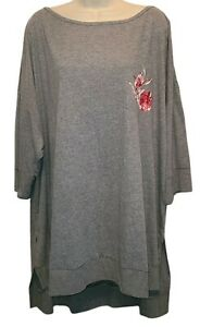 Lane Bryant Sleep By Cacique Gray Pajama Top Size 26 / 28 NEW WITHOUT TAGS!