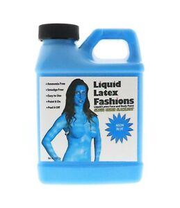 Ammonia Free Liquid Latex Body and Face Paint 8oz Neon Blue