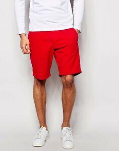Mens TOMMY HILFIGER Red Chino Shorts 32