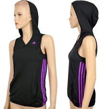 "Adidas ""ESS 3S Tank Top"" Damen Kapuzen Shirt Sport Hoodie Laufshirt schwarz/pink"