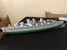 VINTAGE WOOD TOY BOAT ITALIAN SUBMARINE VENTURA TC17 BATTERY OPERATED MODEL
