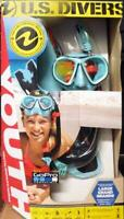 NEW US Divers Youth GoPro Ready Silicone Snorkeling Set, Large O/B