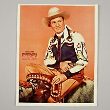 Gene Autry 1952 THE OLD WEST Promo Still 8x10 Glossy Color Photo on Kodak Paper