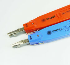 2PCS Krone Network Impact LSA-Plus Punch Down Tool Blue Red