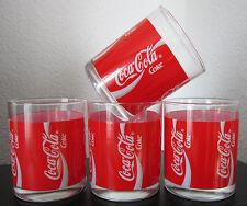 COCA COLA Gläser 0,2 l 4 Stück Werbung Reklame Sammler Softdrink selten gut