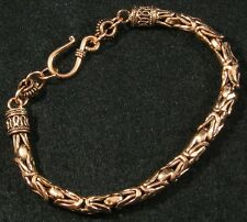 "Solid Copper Byzantine Borobudur Chain Maille Bracelet  9 1/2"" Mens Womens Large"