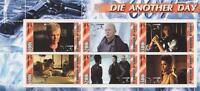 JAMES BOND 007 DIE ANOTHER DAY PIERCE BROSNAN HALLE BERRY MNH STAMP SHEETLET