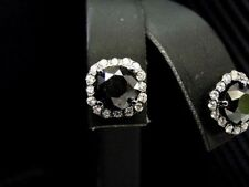 MENS BLACK COLOR DIAMOND STUDS EARRING 18K BLACK GOLD ROUND CUT PUSH BACK 5.6CTS