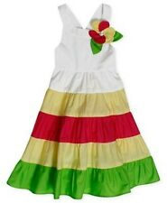 Bonnie Jean Toddler Girl's Dress with ColorBlock Skirt and Flower Applique, 2/2T