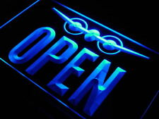 j731-b OPEN Travel Agent Aeroplane Shop Neon Light Sign