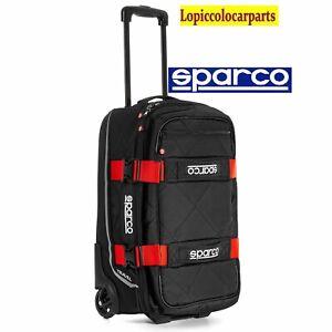 SPARCO BORSONE TRAVEL DA VIAGGIO TROLLEY NERO/ROSSO 016438NRRS