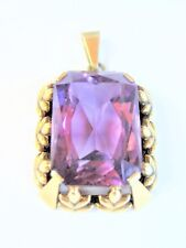 Antique Pendant Gold 585 with Amethyst, 6,38 G