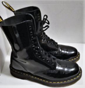 Dr Martens Marc Jacobs Redux Grunge Patent Leather Boots US 9 UK 7 EU 41 EUC