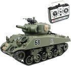 1/20 REMOTE CONTROL TANK Sherman M4A3 Main Battle 15 Ch RC Tank Shoot Airsoft