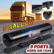 5 Gallon 9 Ports Horn Air Tank 250PSI For Suspension Air Ride Bags Train Boat