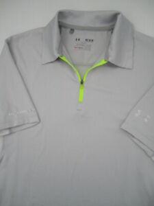 Mens Medium Under Armour Coldblack gray 1/4 zip golf polo shirt