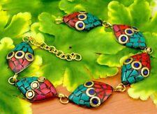 Nepal Fashion Banjara Turquoise Brass Tibetan Designer Jewelry Bracelet BTB615