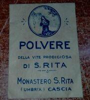 ASSOLUTA R@RIT@'-POLVERE DI SANTA RITA MONASTERO DA S.RITA DA CASCIA*BUSTA PIENA