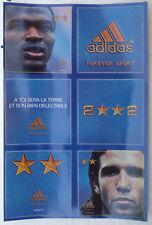 Rare autocollants avec 2 étoiles pour l'équipe de France coupe du monde 2002