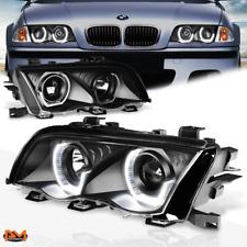 For 99-01 BMW E46 3-Series 3D LED U-Halo Projector Headlight/Lamp Black Housing