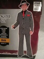 Boys Halloween Costume Gangster Guy Pin Striped Pant Suit Child Size Medium 8-10