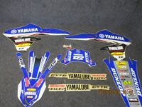 Yamaha YZF250 YZF450 2014-2017 Star Carreras Eu Equipo Conjunto Gráfico SG082