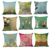 18''Easter Car Sofa Bed Throw Pillow Case Cushion Cover Festival Home Decoration