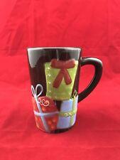DESIGNPAC INC Brown Large Heavy Christmas Mug Raised Graphics