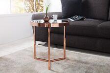 Designer Couchtisch Glastisch Tisch Beistelltisch kupfer schwarz RETRO Art Deko