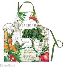 Michel Design Works Cotton Apron From My Garden Veggies Vegetables - NEW