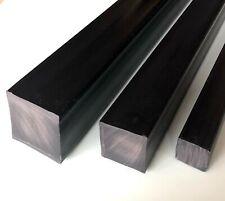 Barra Quadro PVC Pieno Nero  Scegli Lato  e Lunghezza