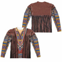 1960's HIPPIE 2-Sided Men's L/S T-Shirt Easy Halloween Costume S-3XL