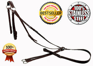 ZILLES TOP QUALITY SOFT LEATHER BREASTPLATE WITH RUNNING MARTINGALE ATTACHMENT.