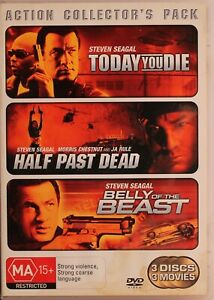 Today You Die / Half Past Dead / Belly Of The Beast DVD - Steven Segal - Free Po