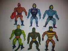 He-Man MOTU Masters of the Universe 6 Figure Lot Battle Armor Skeletor Moss Man
