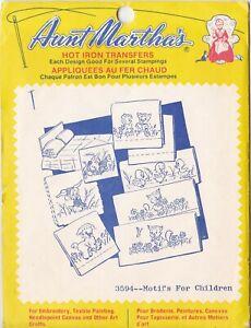Aunt Martha's Hot Iron Transfers, Motifs For Children #3594