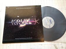 SCARCE 1983 KRULL ORIGINAL MOVIE SOUNDTRACK LP JAMES HORNER OST SCRS 1004 sci-fi