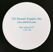 HT Zirconia Disc (98.5 x 16mm) (HIGH TRANSLUCENT)